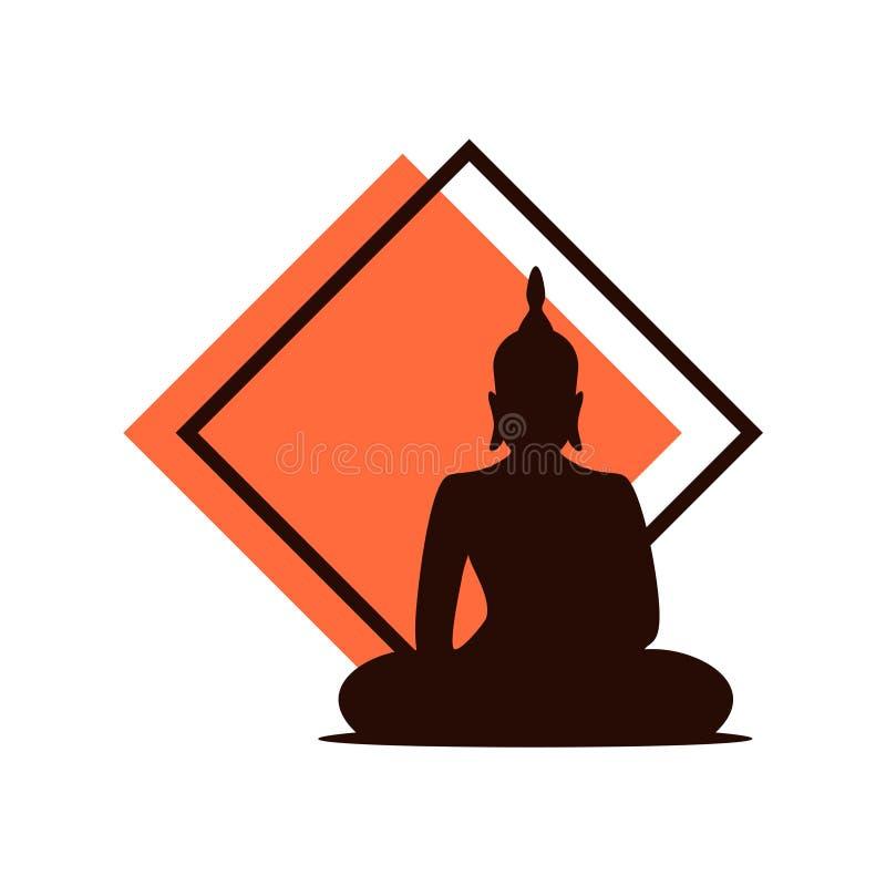 Fantasirikt buddha symbol stock illustrationer