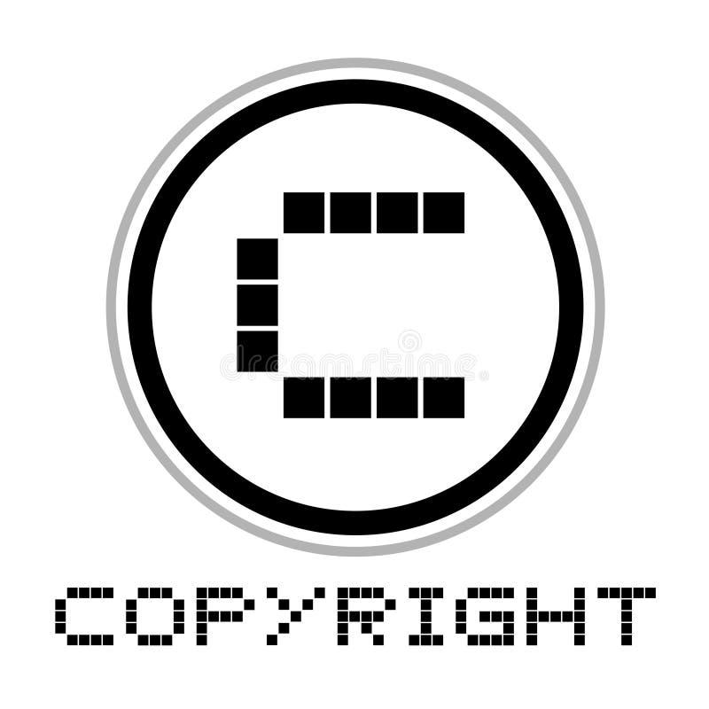 Fantasirikt copyright-symbol vektor illustrationer