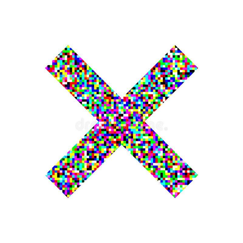 Fantasirikt färgrikt kors vektor illustrationer