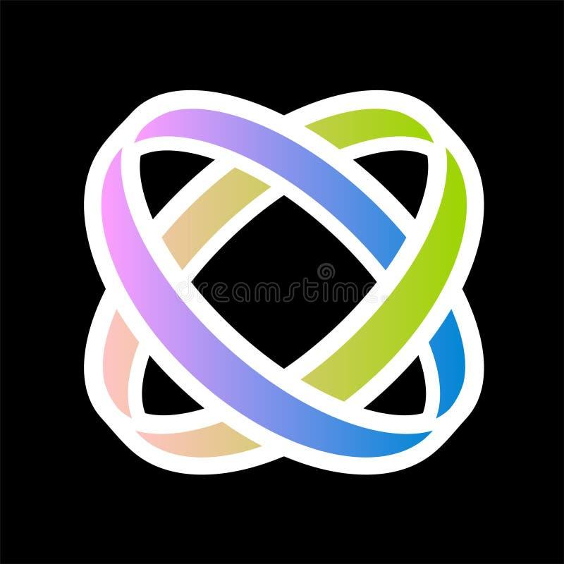 Fantasirikt företags fackligt symbol royaltyfri illustrationer
