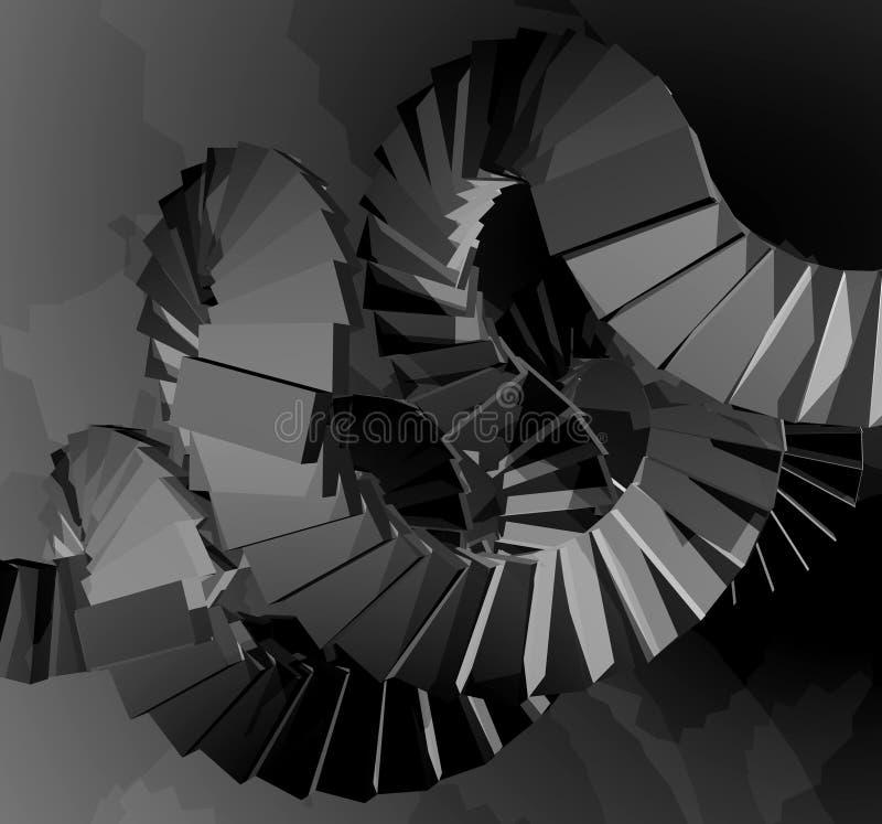 Fantasirikt framför trappa vektor illustrationer