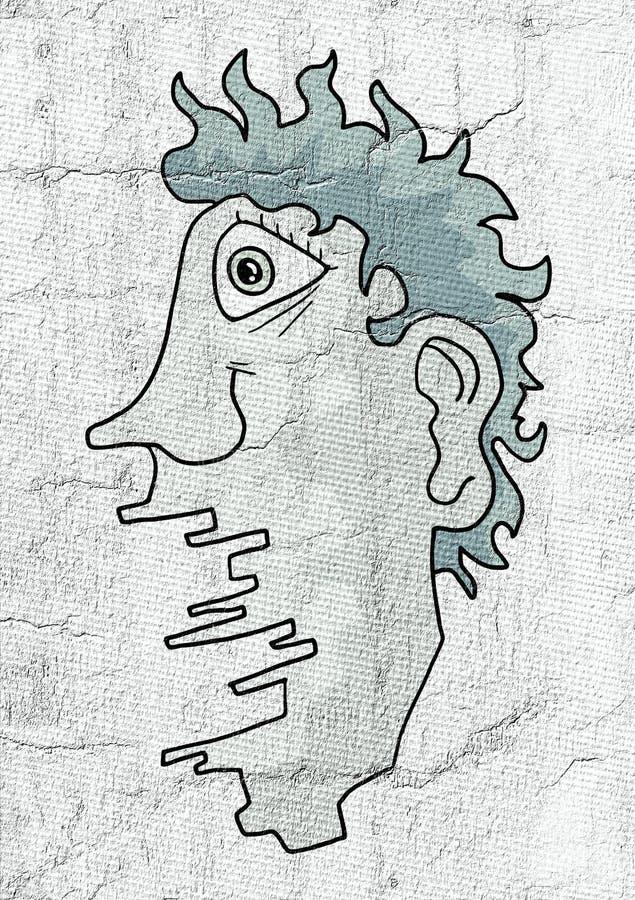 Fantasirikt huvud stock illustrationer