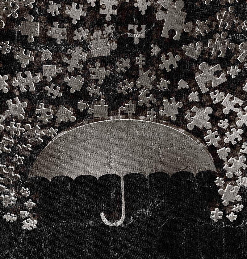 Fantasirikt paraply vektor illustrationer