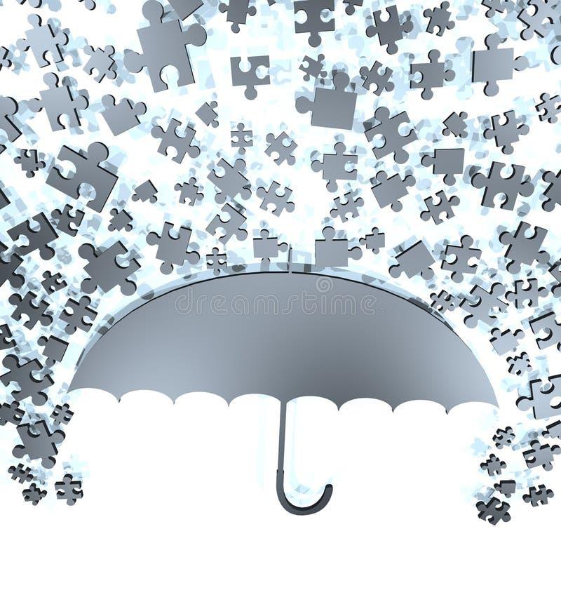 Fantasirikt paraply stock illustrationer