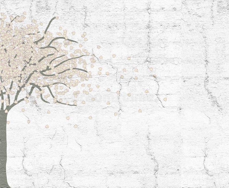 Fantasirikt träd royaltyfri illustrationer