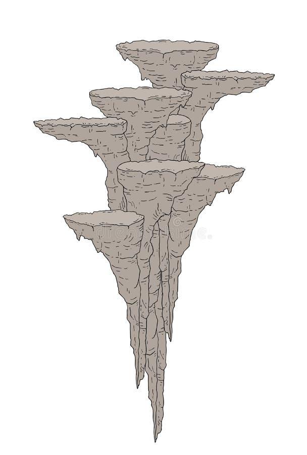 Fantasirikt vagga plattformillustrationen vektor illustrationer