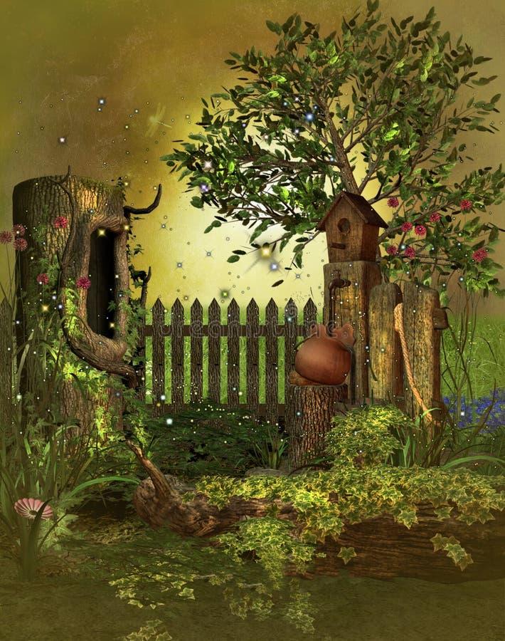 Fantasiträdgård vektor illustrationer