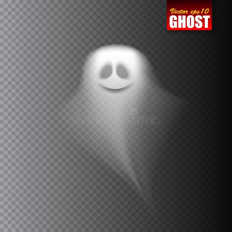 Fantasma aislado en fondo transparente Ilustración del vector libre illustration