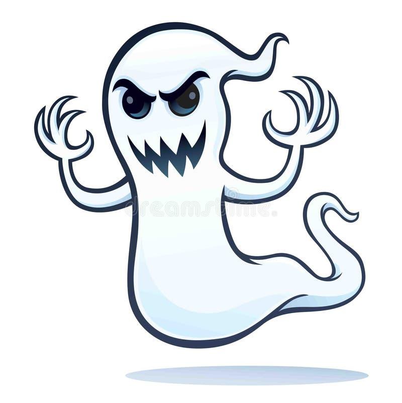Fantasma arrabbiato spettrale illustrazione vettoriale