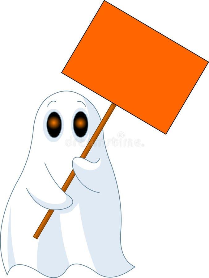 Fantasma com sinal ilustração do vetor