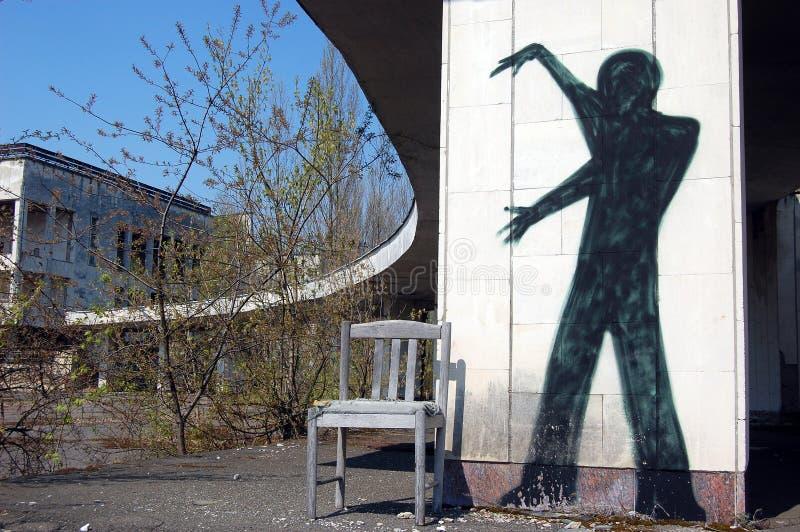 Fantasma de cidade perdida imagem de stock