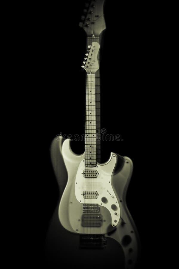 Fantasma de la guitarra eléctrica imagen de archivo