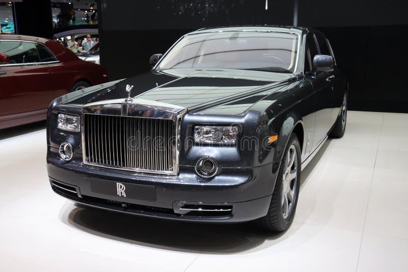 Fantasma della Rolls Royce al salone dell'automobile di Parigi fotografia stock libera da diritti