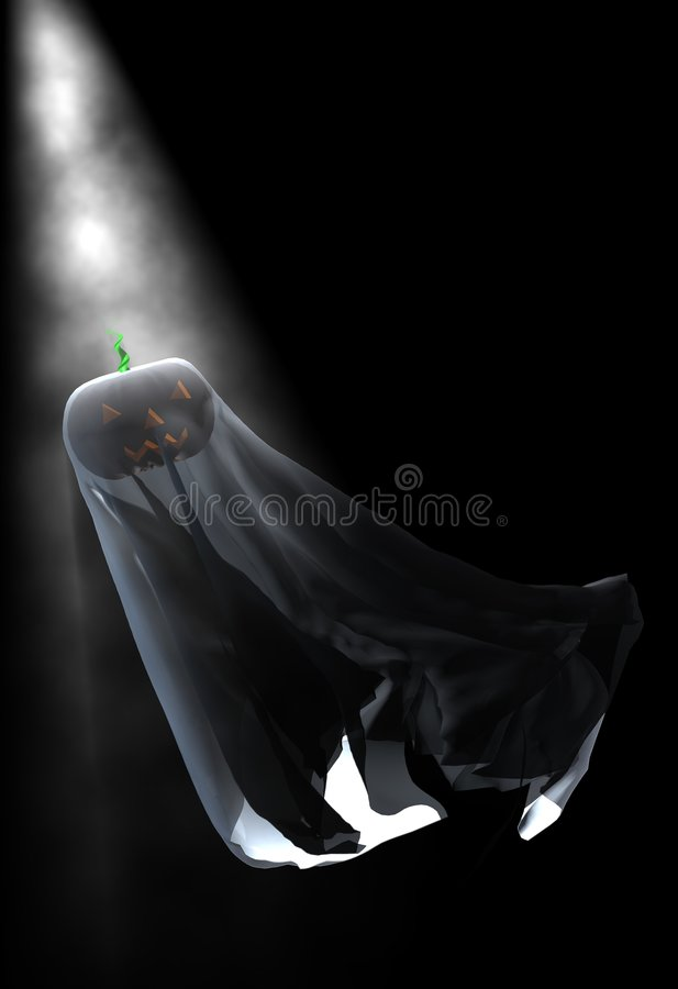 Fantasma della zucca di Halloween illustrazione vettoriale