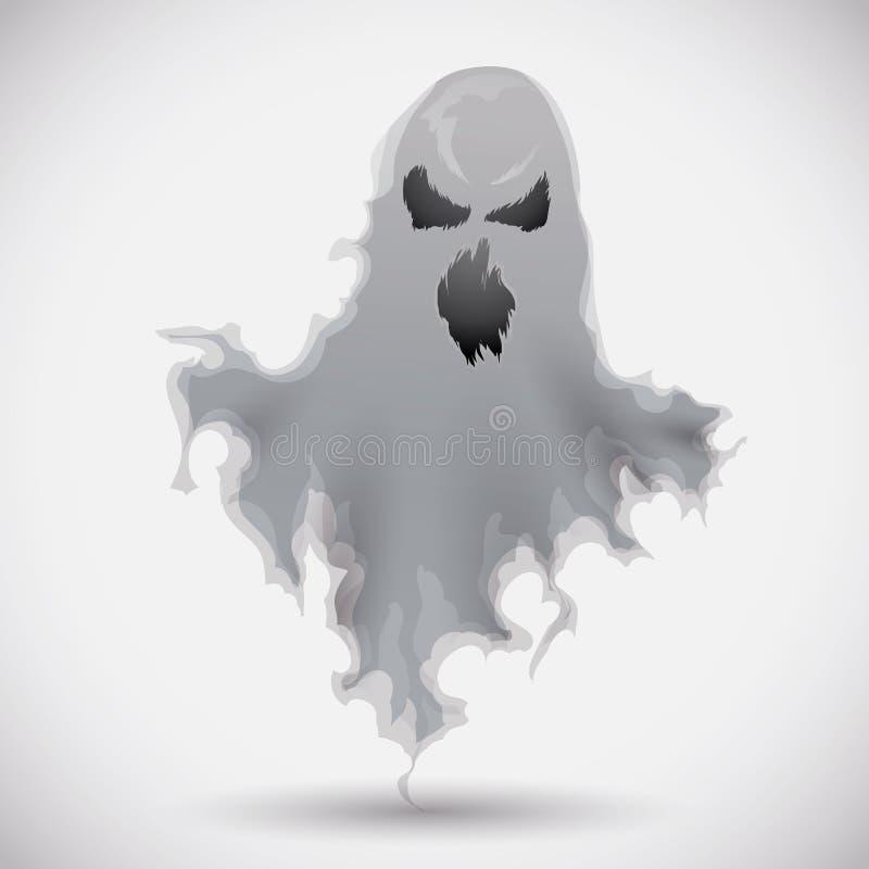 Fantasma furioso que flota, ejemplo del vector stock de ilustración