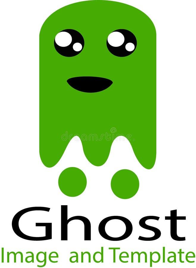 Fantasma Halloween y plantilla del logotipo ilustración del vector