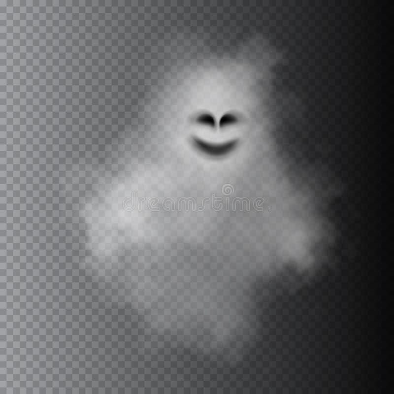Fantasma isolato su fondo trasparente Illustrazione di vettore illustrazione vettoriale