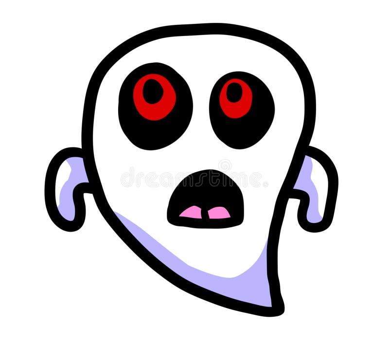 Fantasma observado rojo sorprendido espeluznante stock de ilustración