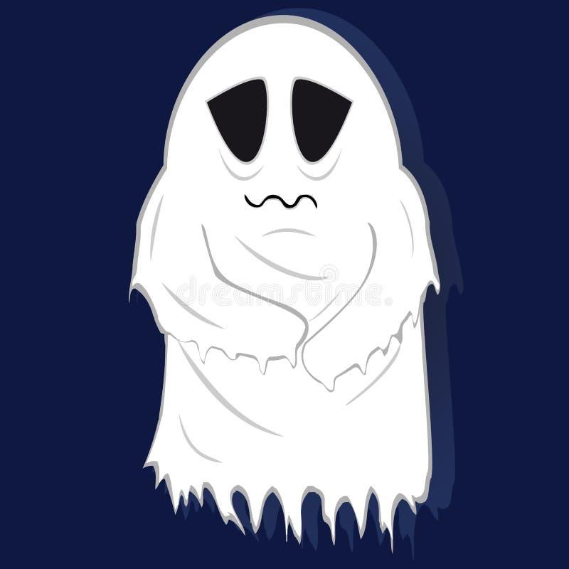 Fantasma pálido dos pobres em fundo listrado ilustração royalty free