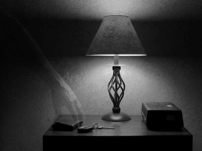 Fantasma sobrenatural B&W fotografía de archivo