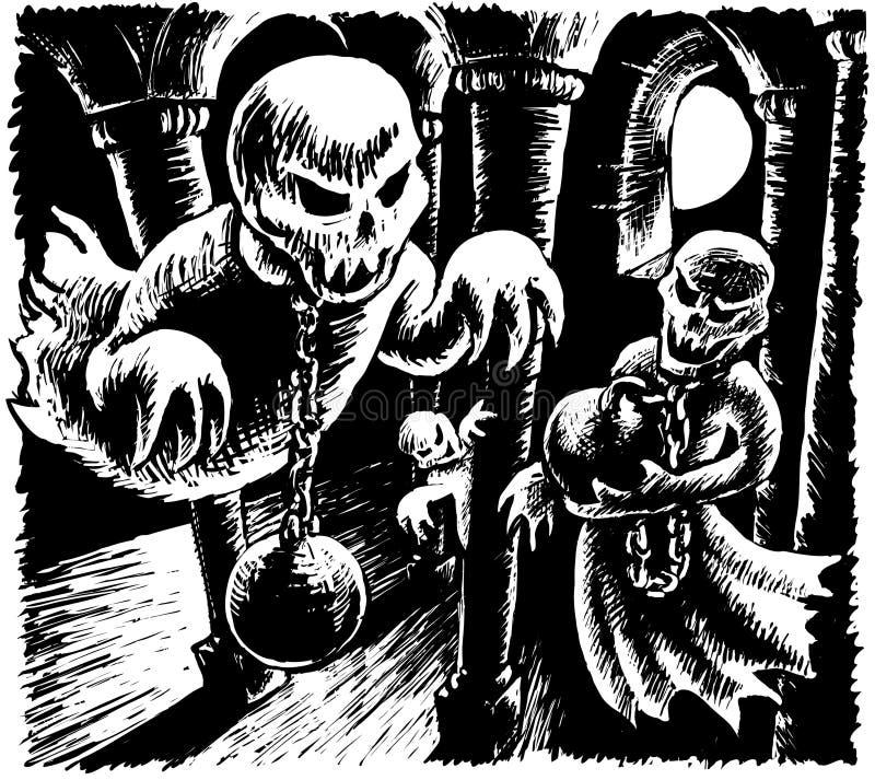 fantasmas stock de ilustración