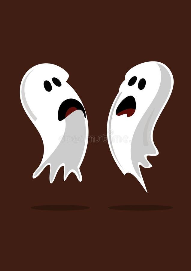 Fantasmas assustadores ilustração royalty free