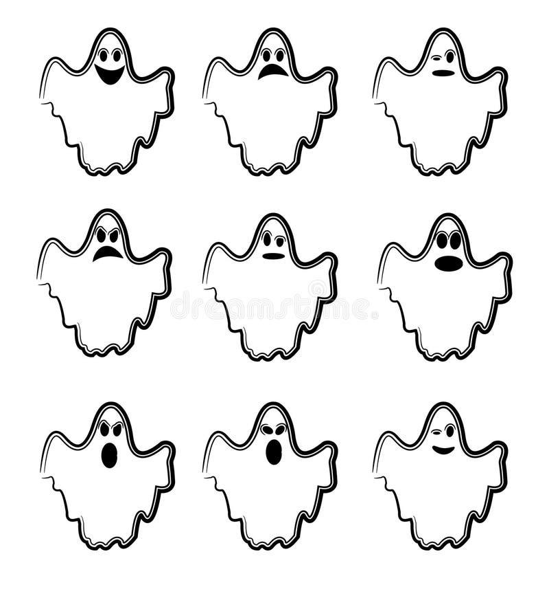 Fantasmas ilustração royalty free