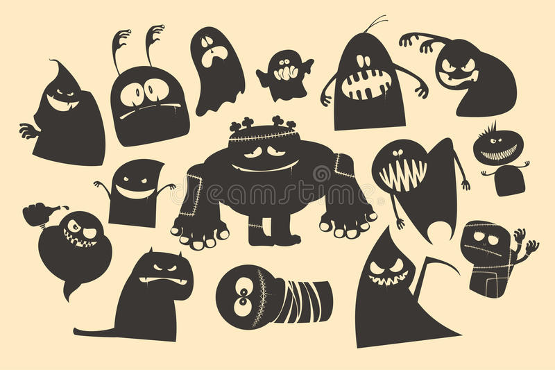 Fantasmi di Halloween. royalty illustrazione gratis