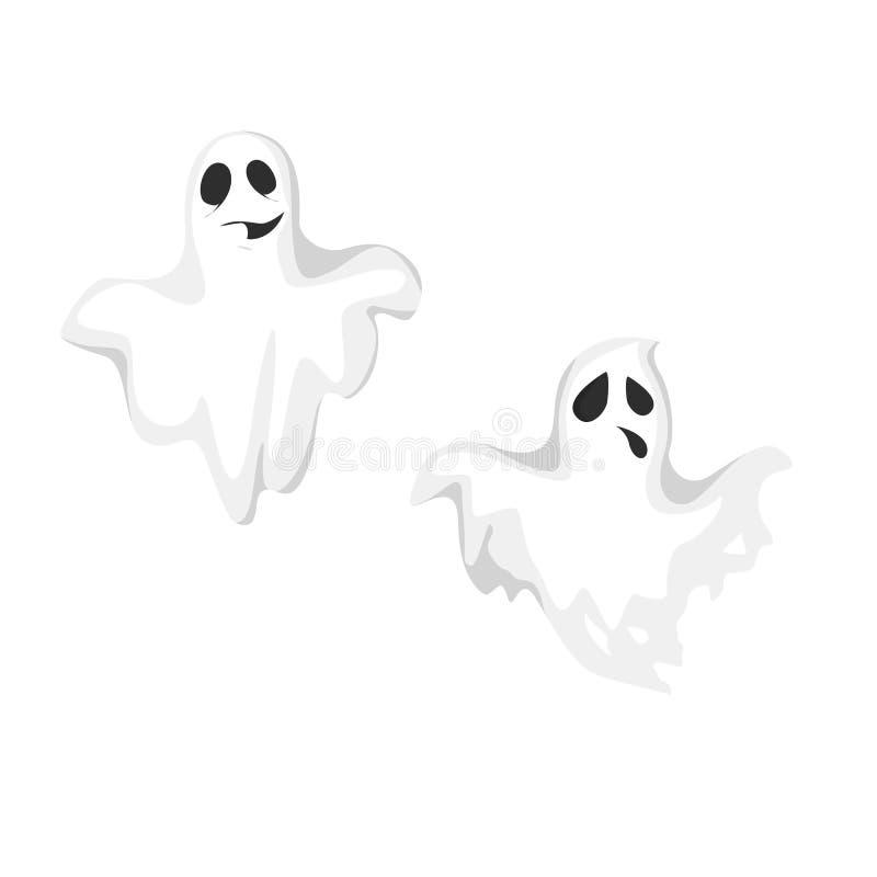 Fantasmi spettrali isolati illustrazione di stock