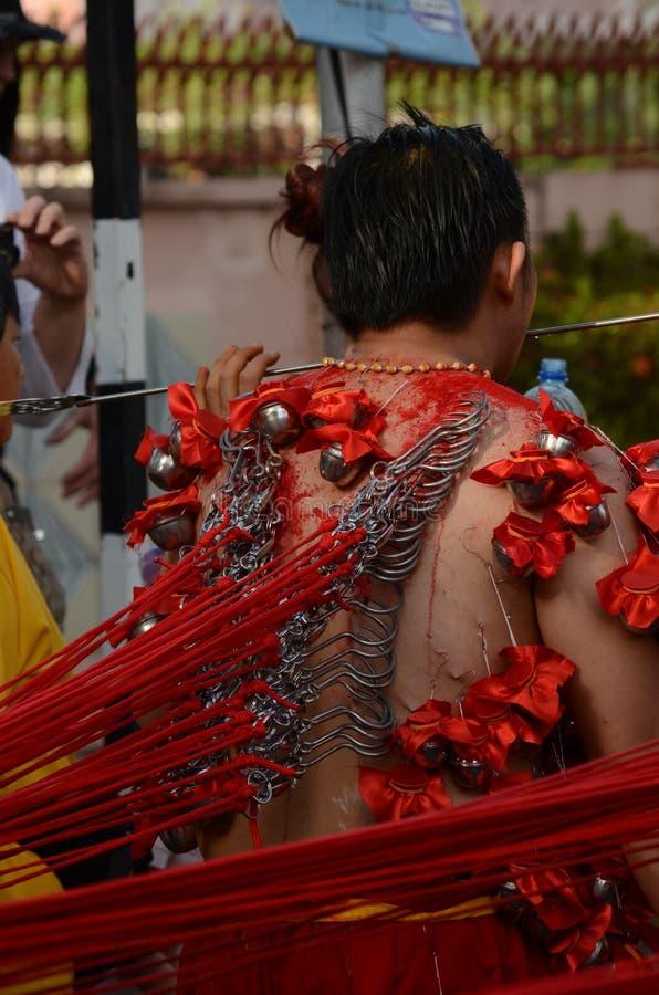 Fantast i den Thaipusam processionen arkivbild