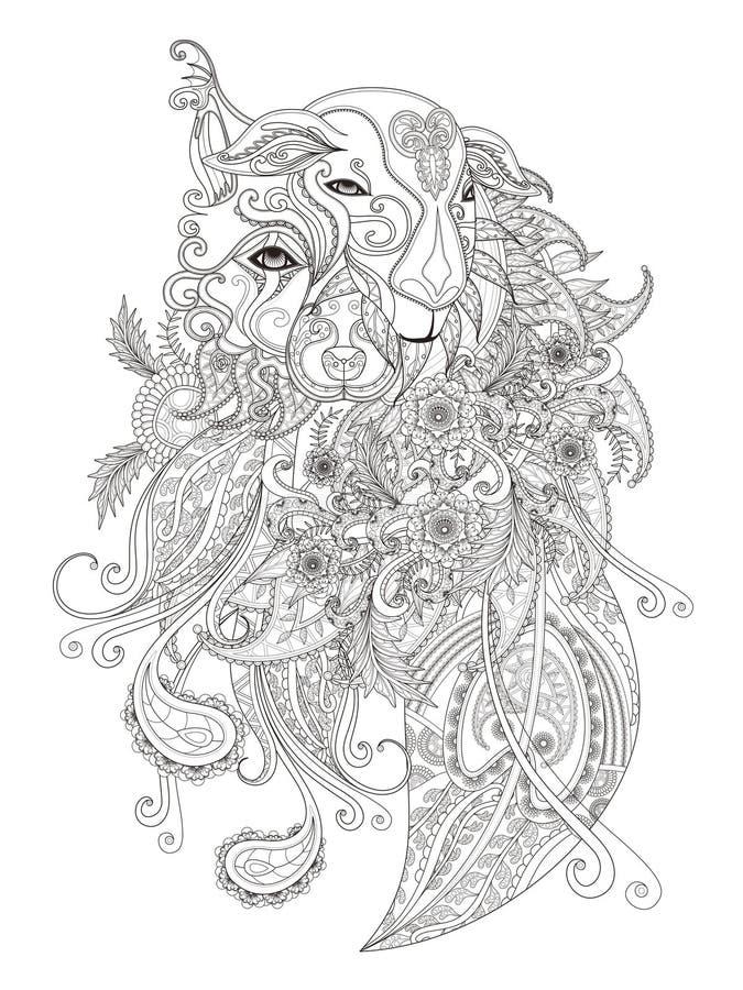 Download Fantastic Adult Coloring Page Stock Illustration