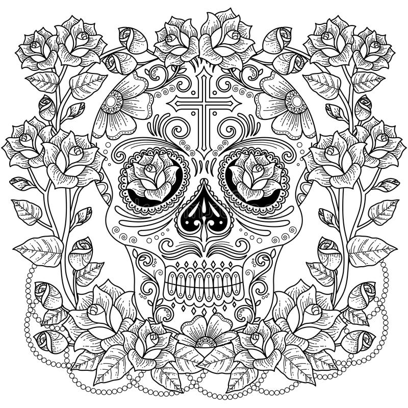 Fantastic Adult Coloring Page Stock Illustration Illustration Of Line Page 77582777