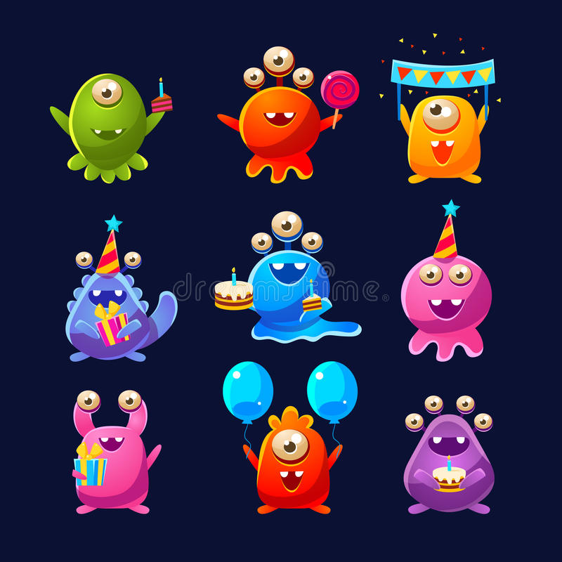 Free Fantastic Aliens With Birthday Party Objects Stock Photos - 75799063