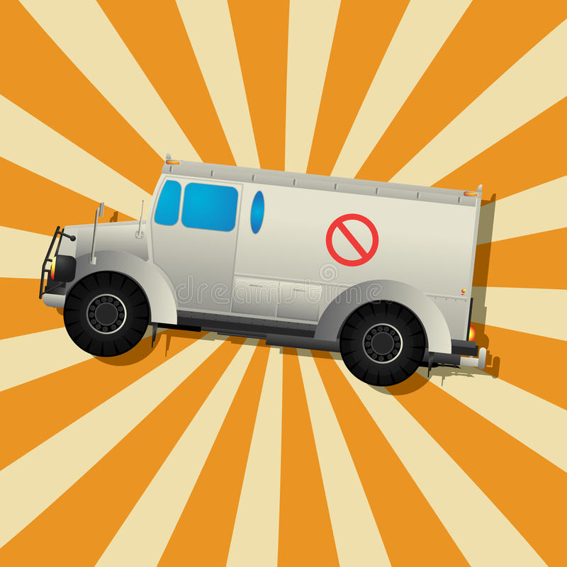 Download The Fantastic Armored Truck Stock Vector - Image: 27301903