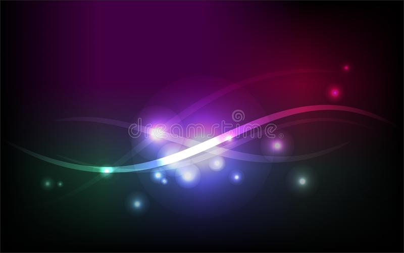 Abstract and magic waves. Fantastic background with shining blurs and waves stock illustration