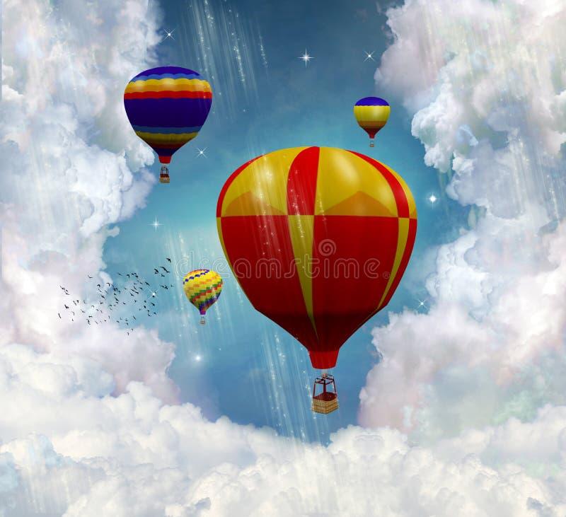 Fantastic ballons stock illustration