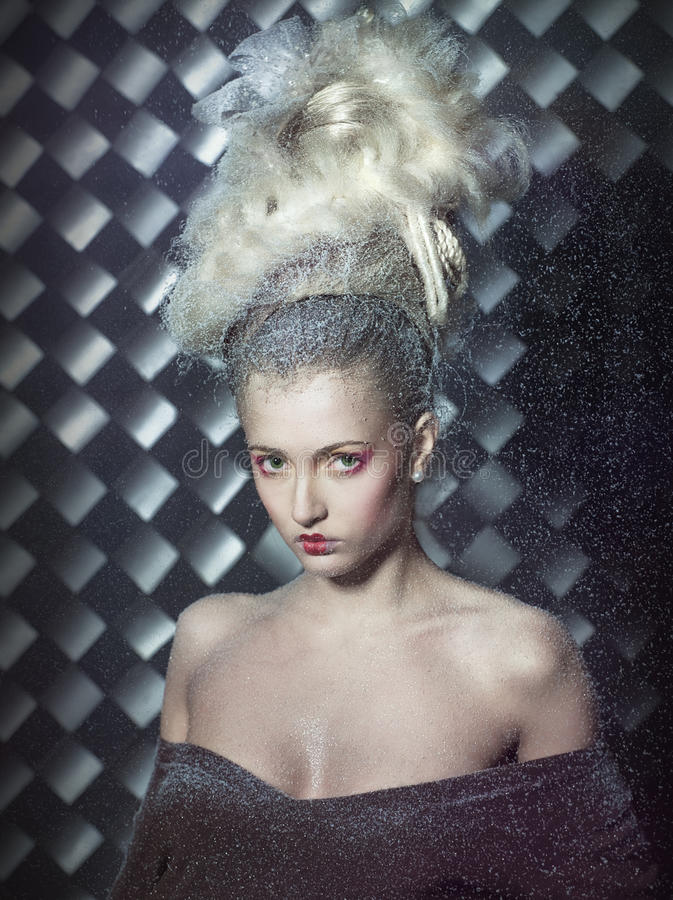 Free Fantastic Blonde In The Snow. Royalty Free Stock Photo - 17181115