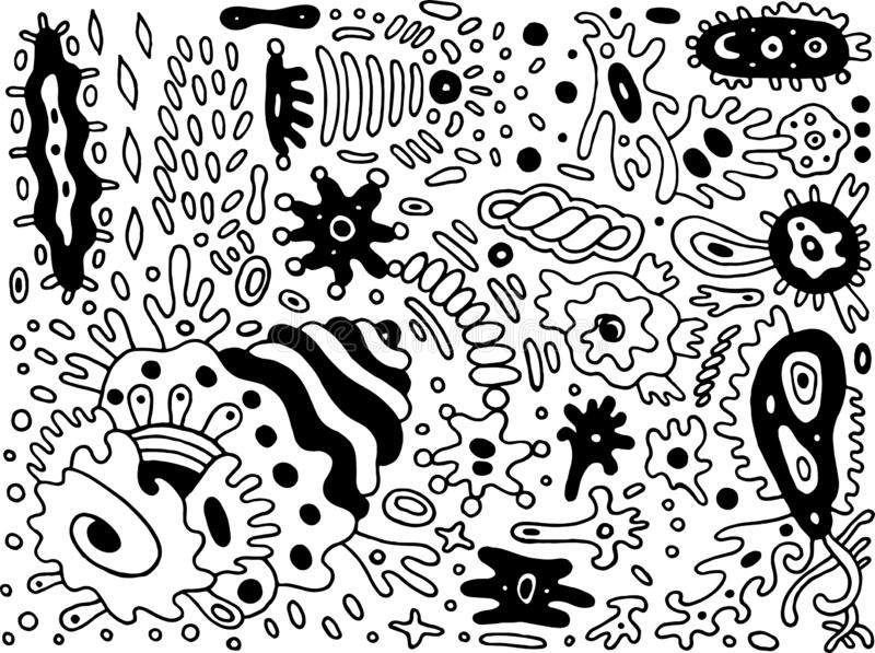 Fantastic cartoon abstract doodle. Ink line drawing. Coloring page for adults. Vector illustration.  vector illustration