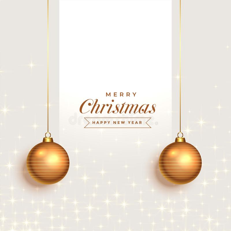 Fantastic christmas greeting background with decorative balls. Vector royalty free illustration