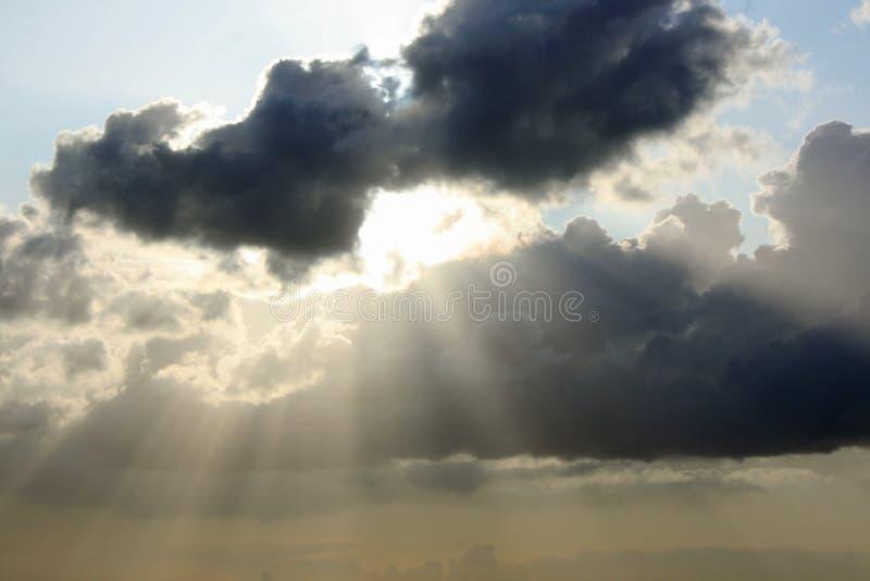 Fantastic clouds stock photos