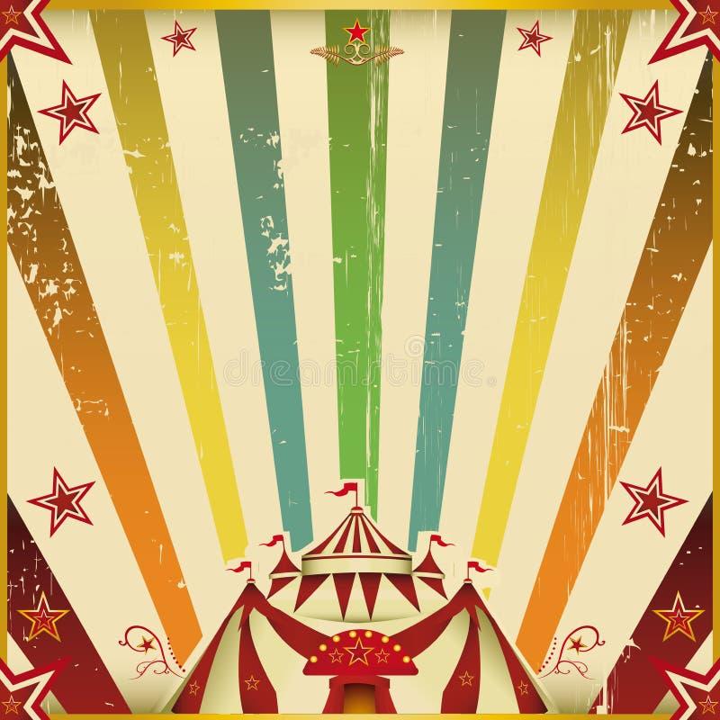 Fantastic color circus square background stock photos