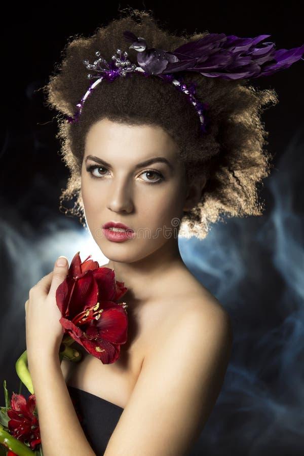 Fantastic creative fashion woman stock photos