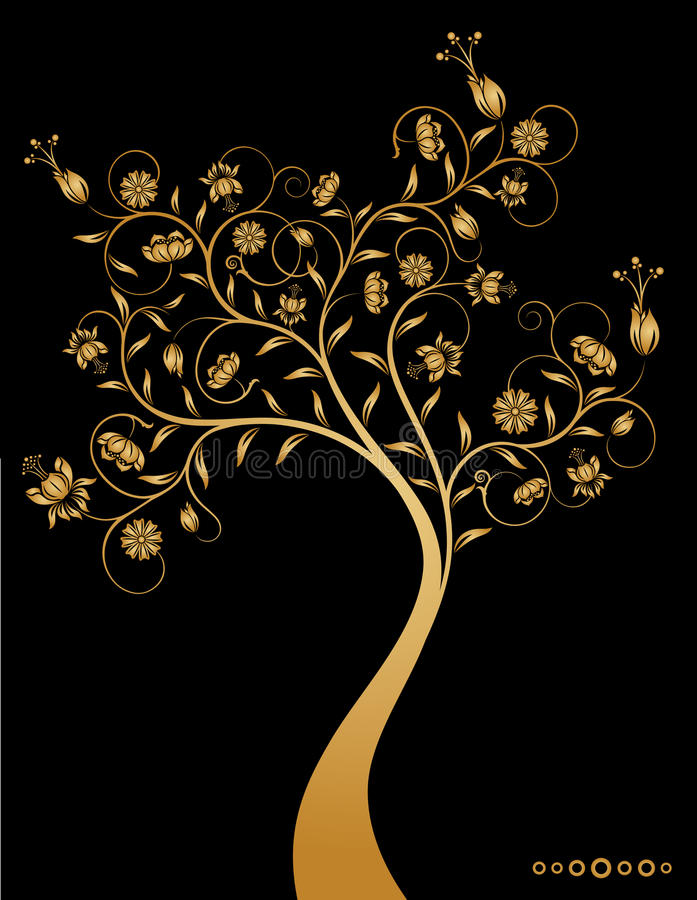 Download Fantastic decorative tree. stock vector. Image of yellow - 10829861