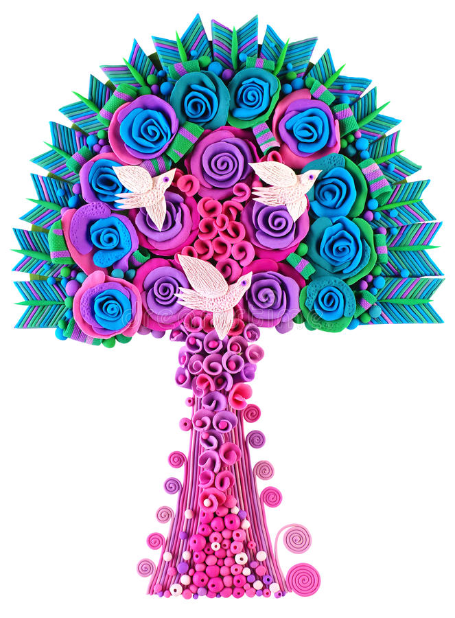 A fantastic fantasy tree-flower stock image