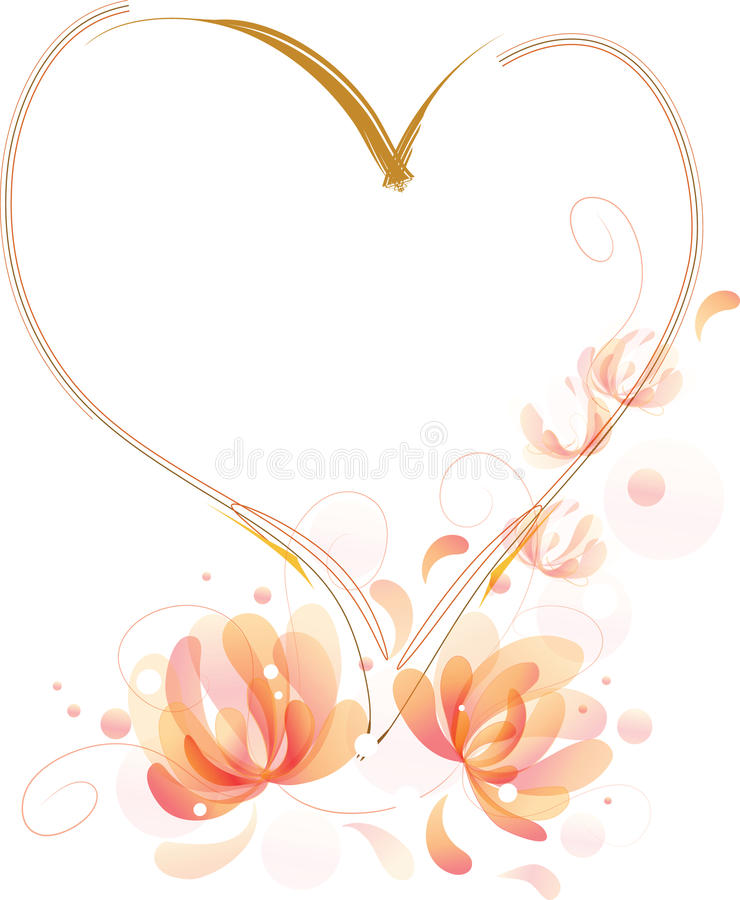 Download Fantastic Flowers Heart Frame Stock Vector - Illustration: 19865492