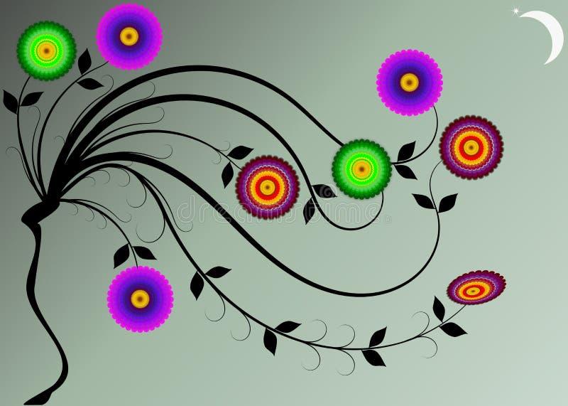 Download Fantastic Flowers Under Moonlight Stock Vector - Image: 23487188