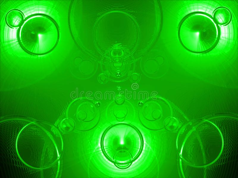 Mysterious Background, Applicable When Creating Backgrounds, Compositions And Collageses. Raster image, Fiery abstraction, mysterious, fantastic green light stock illustration