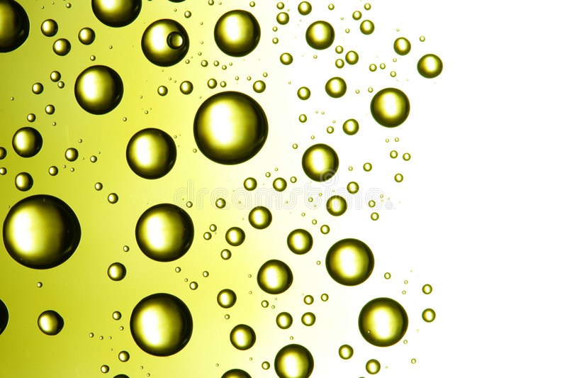 Fantastic Green Drops Stock Photo
