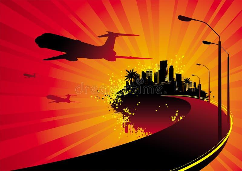Download Fantastic island stock vector. Image of cities, line, plane - 4829598