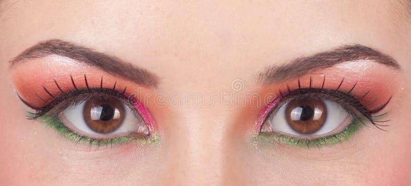 Fantastic make up eye. royalty free stock photo